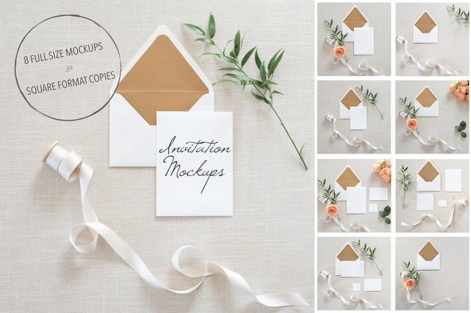 Wedding Invitation Mockups