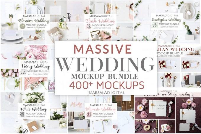 Wedding Mockup Bundle PSD