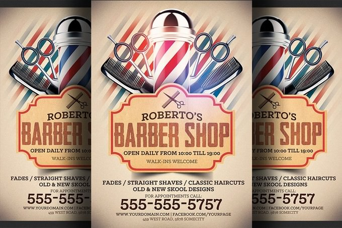 Welcome Barber Shop Flyer