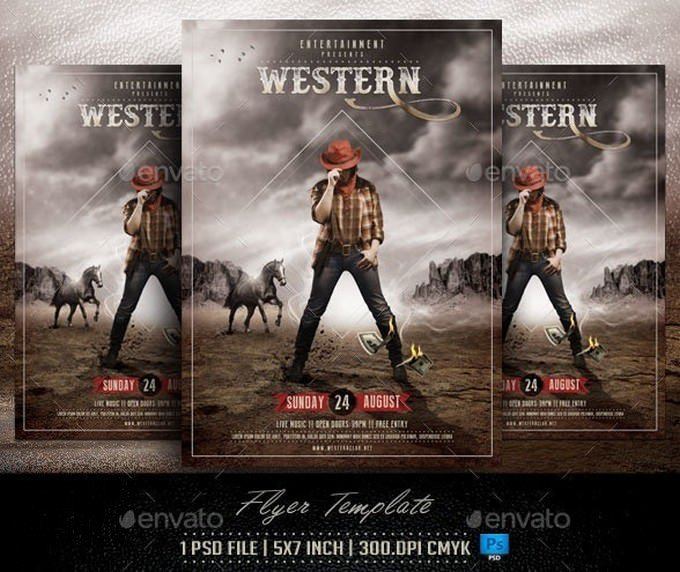 Western Flyer Template PSD