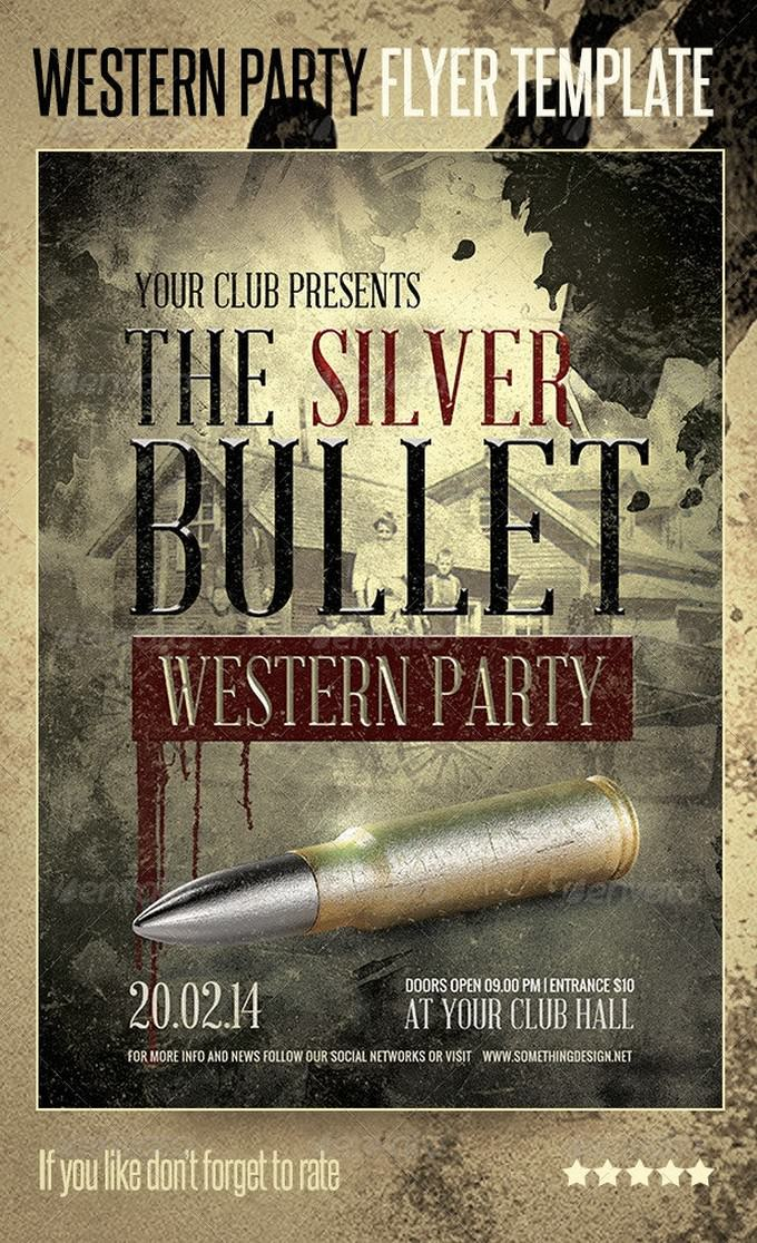 Western Party Flyer Print