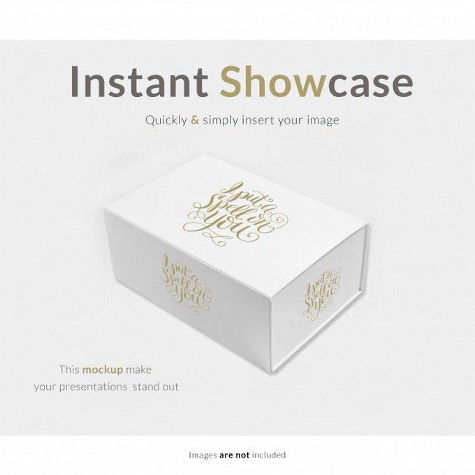White Gift Box Mock up PSD