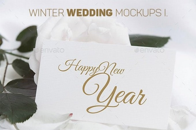 Winter Wedding Mockup