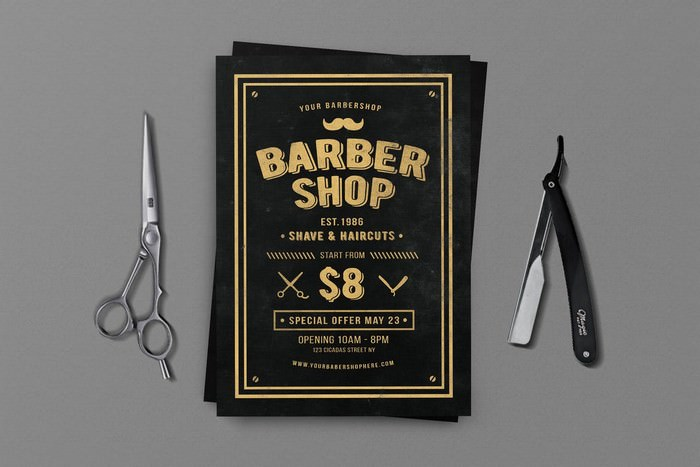 Your Barber Shop Flyer