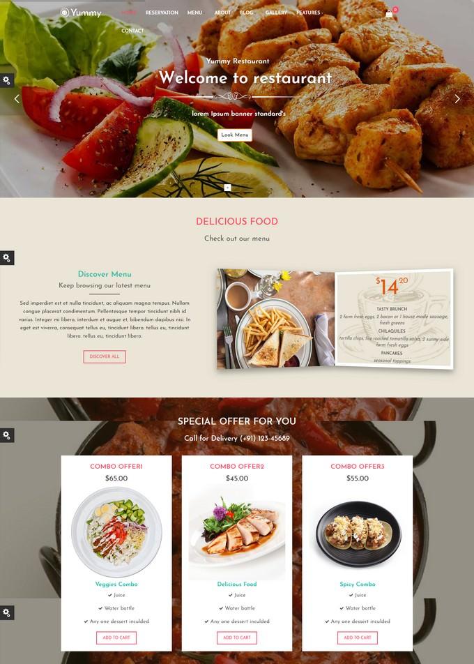 Responsive Joomla Restaurant Template