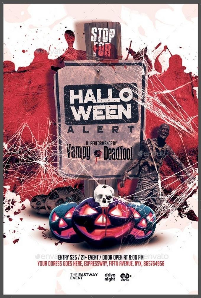 Zombie Alert Halloween Flyer