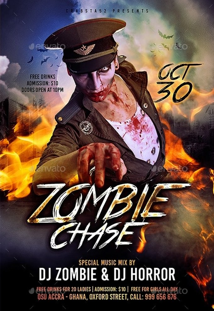 Zombie Chase Flyer