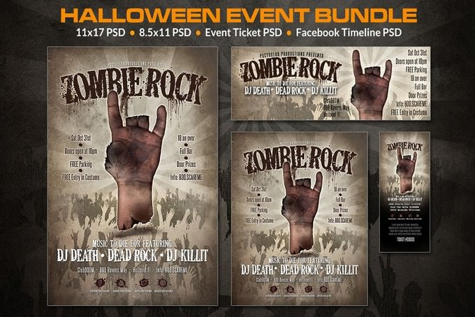 Zombie Event Bundl Flyer