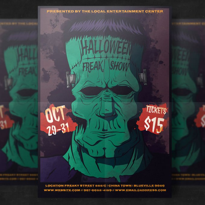 Zombie Galloween Party Flyer Template