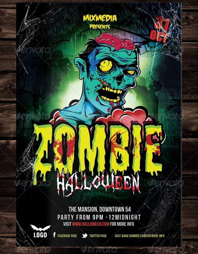 Zombie Halloween Flyer