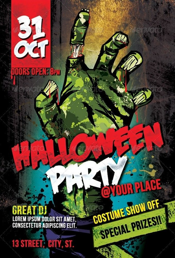 Halloween Party PSD template