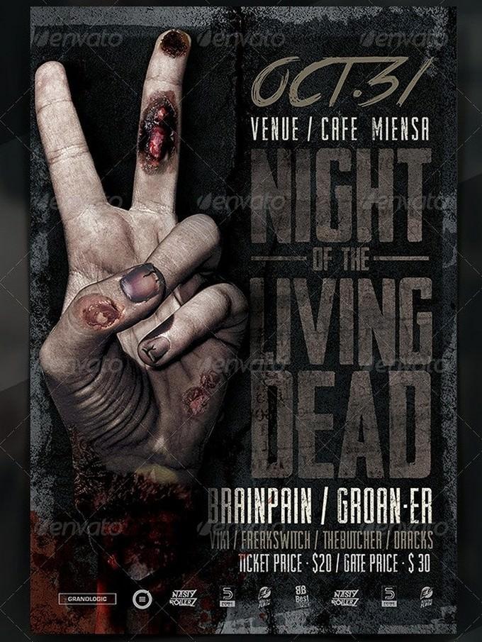 Zombie Hand Flyer