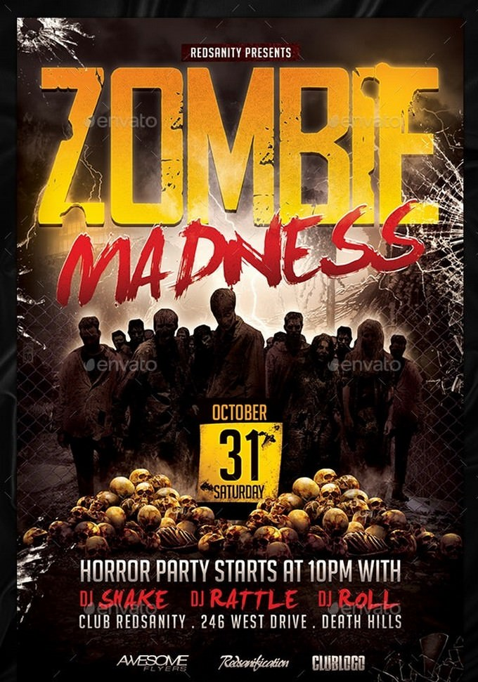 Zombie Madness Flyer Template