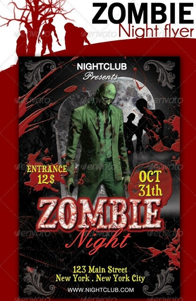 Zombie Night Flyer Template