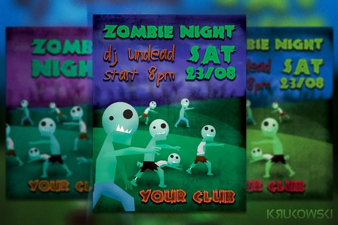 Zombie Night Flyer PSD