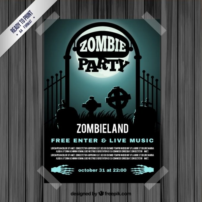 Zombie Party Flyer