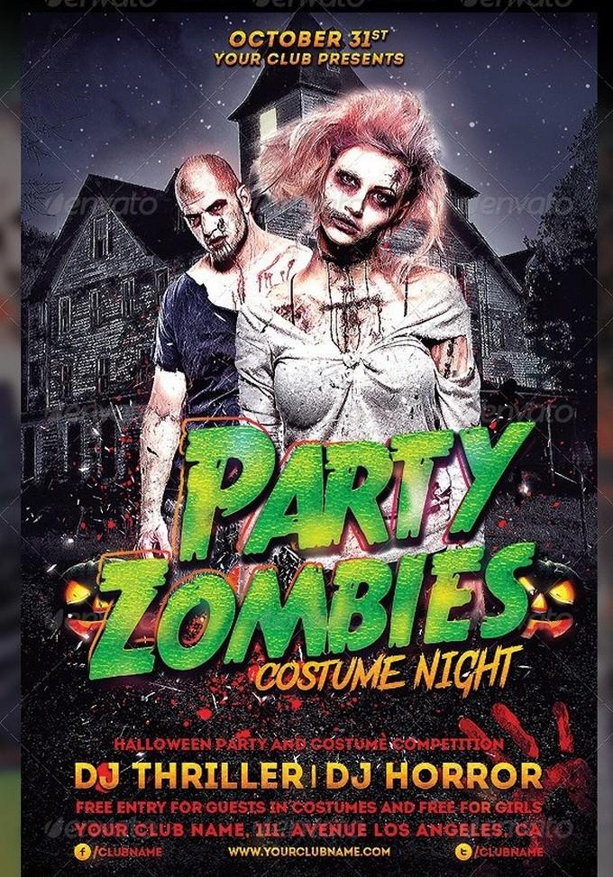 Zombies Halloween Costume Template