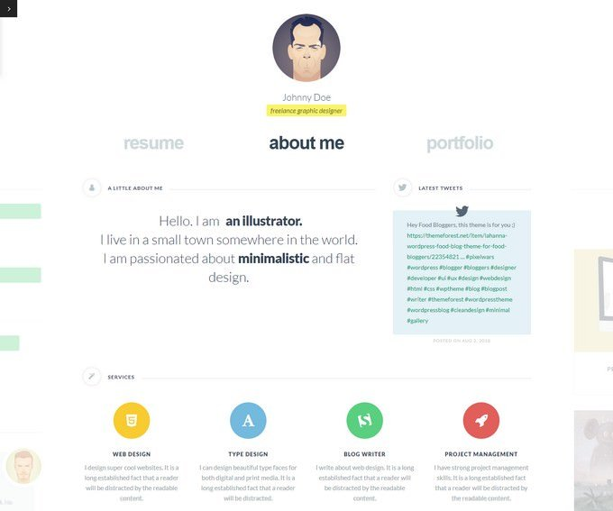 cvCard WP Responsive vCard WordPress Theme