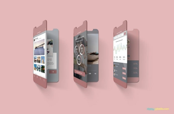 Free Multi Screen Mockups For iPhone
