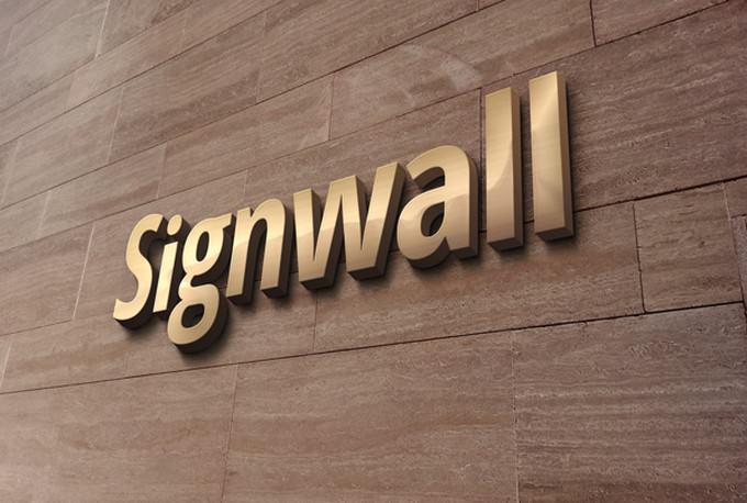 3D Signwall gold MockUps