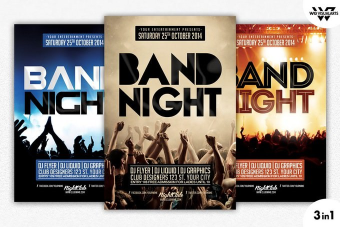 3in1 Band Concert Flyer