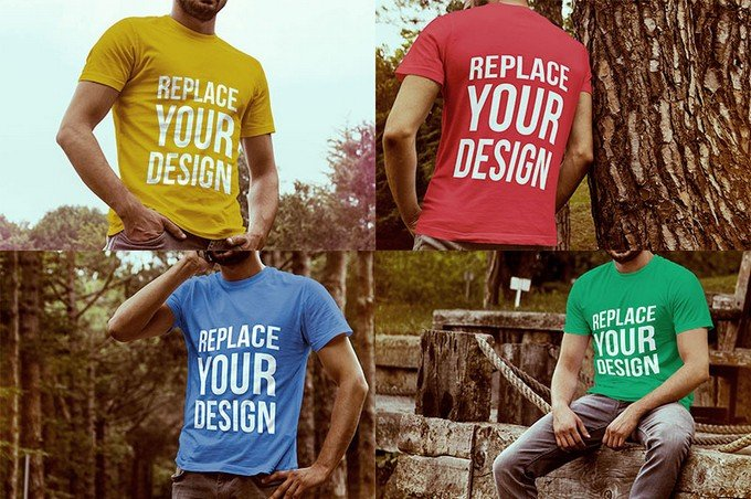 Free T-shirt Mock-up Templates