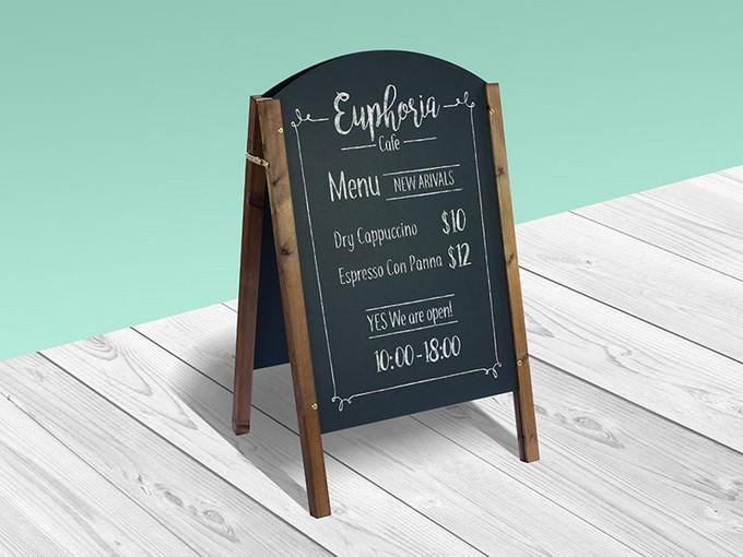 Chalkboard Restaurant Menu Mockup