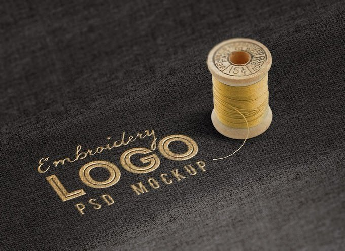 Realistic Embroidered Logo on a Fabric