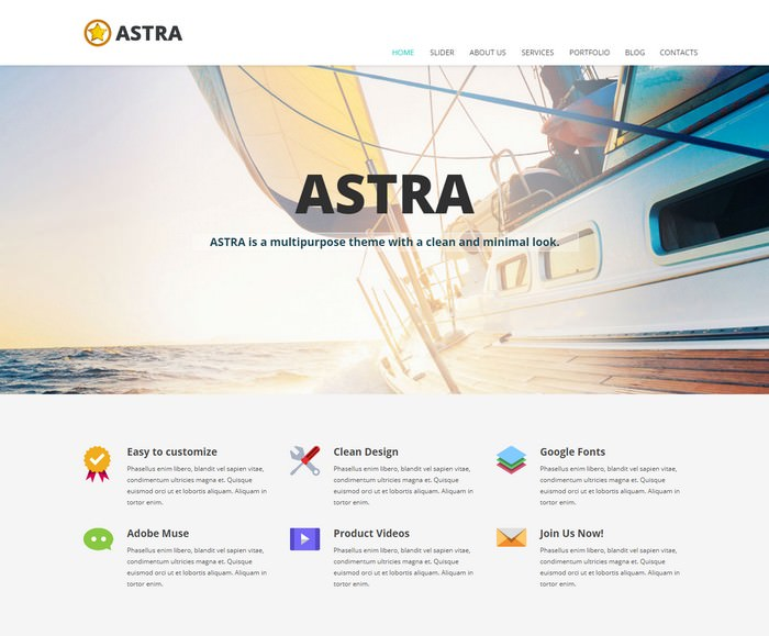 ASTRA - Adobe Muse Templates