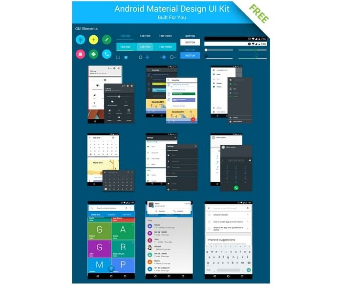 Android UI Kit Free