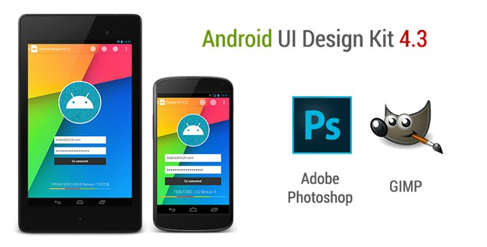 Android Ui Design Kit For Photoshop And Gimp 4.3