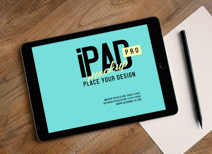 Apple iPad Pro Photo Mockup PSD