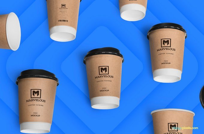 Awesome Coffee Cup Product Mockup PSD
