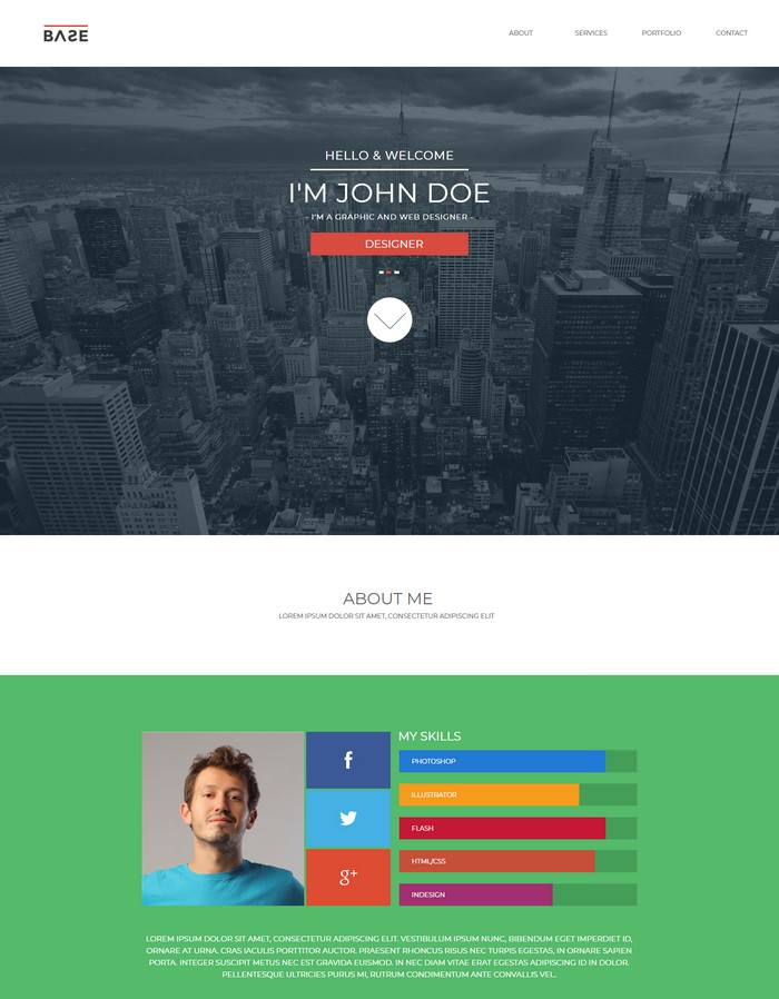 Base – One Page Parallax Muse Theme