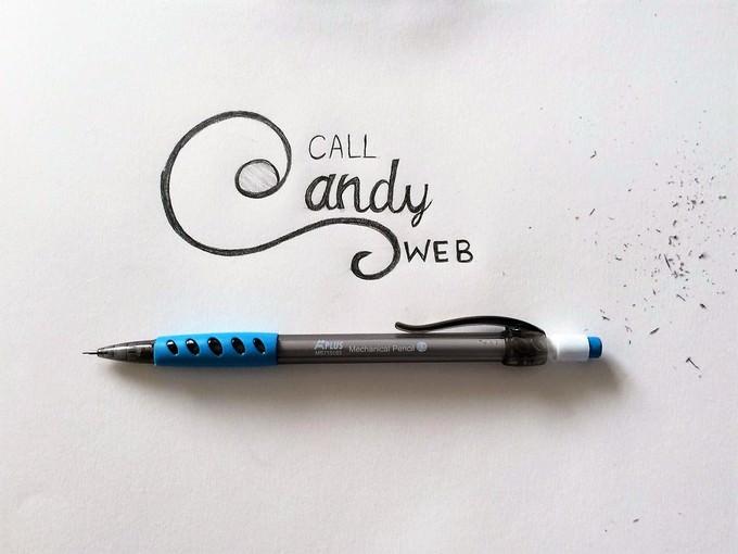 Call Candy Logo Mockup PSD