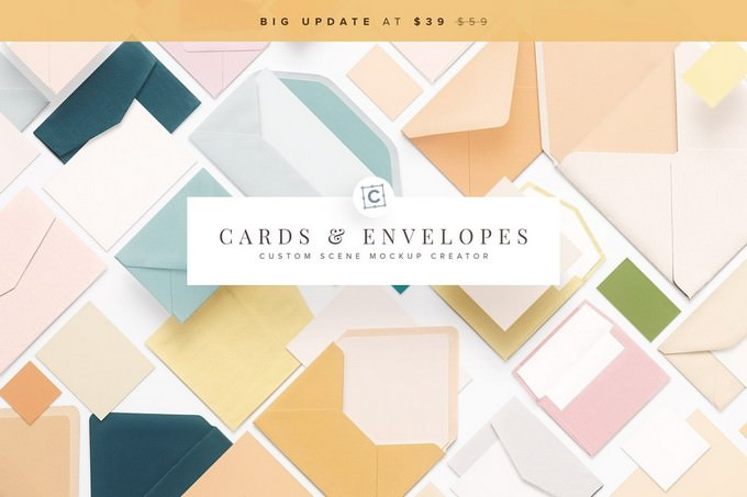 Cards & Envelopes Mockups