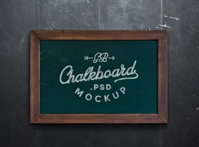 Chalk-board PSD Template