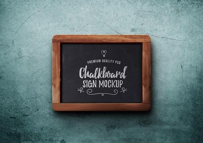 Chalkboard Sign PSD