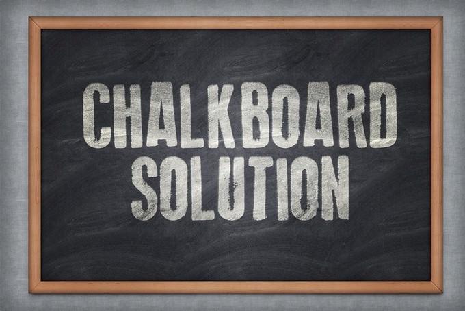 Chalkboard Solution PSD