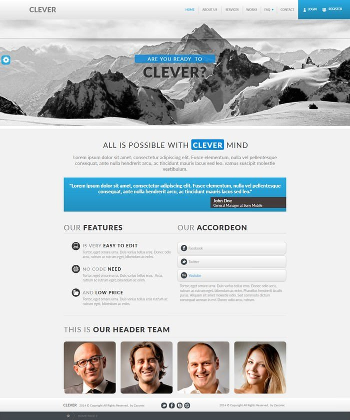 Clever Muse Template