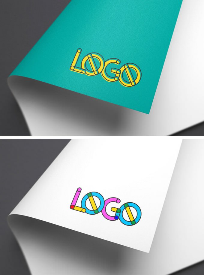 Colorful Logo MockUp PSD