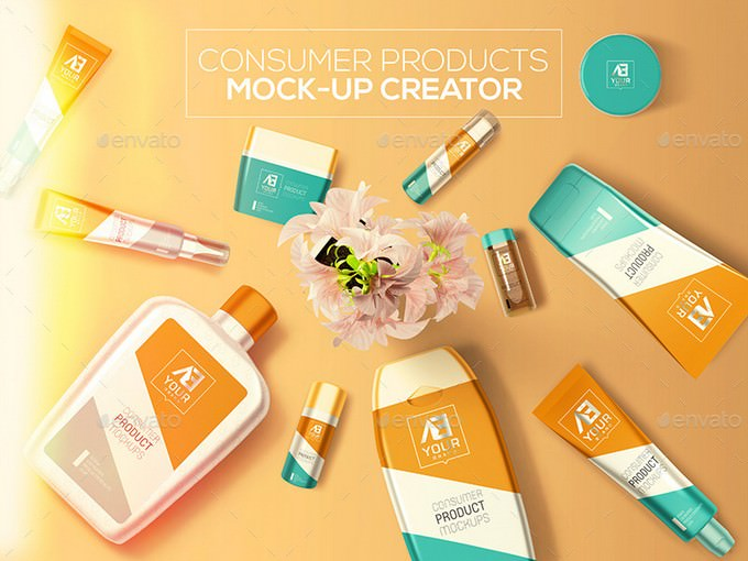 Consumer Products Mock-up PSD