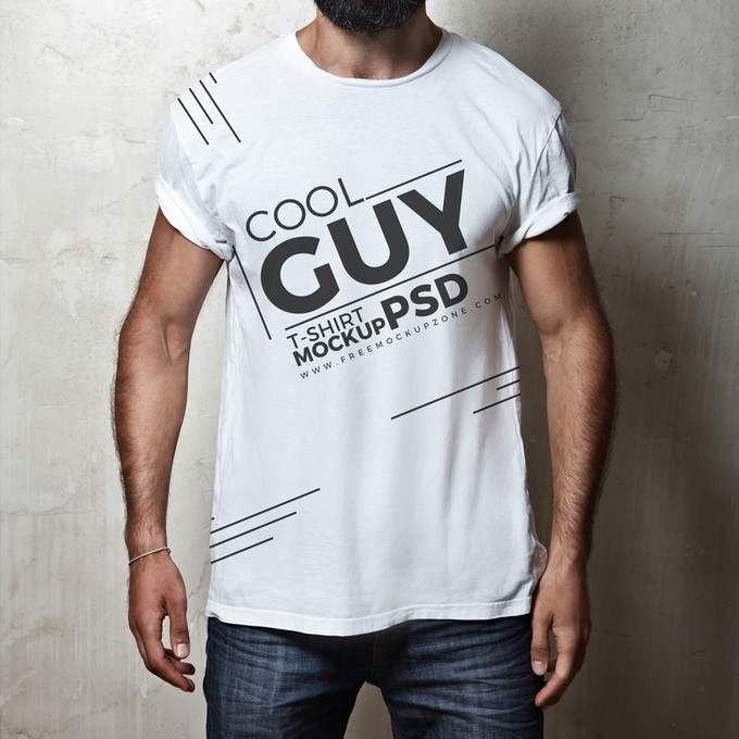 Cool Guy T-Shirt PSD MockUp