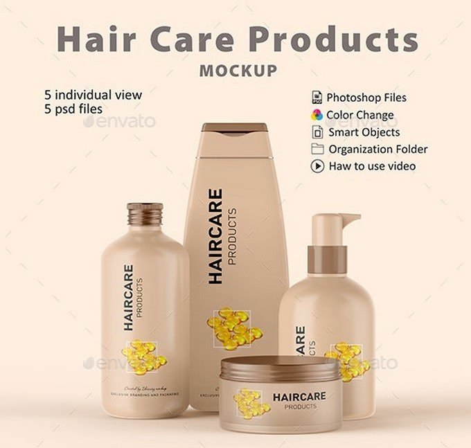Cosmetic Hair Care Products PSD