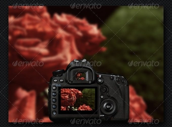 Digital Camera Mock-Up PSD
