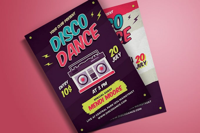 Disco Dance Poster Flyer Template