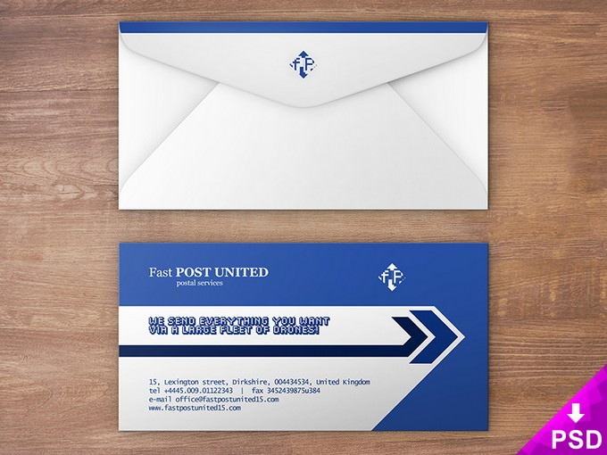 Envelope Design Mock-up PSD