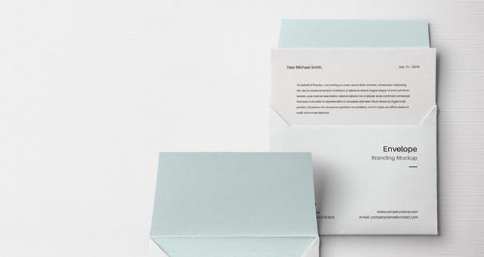 Envelope Letter Psd Mockup PSD