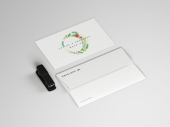 Envelope and Letter Mockup