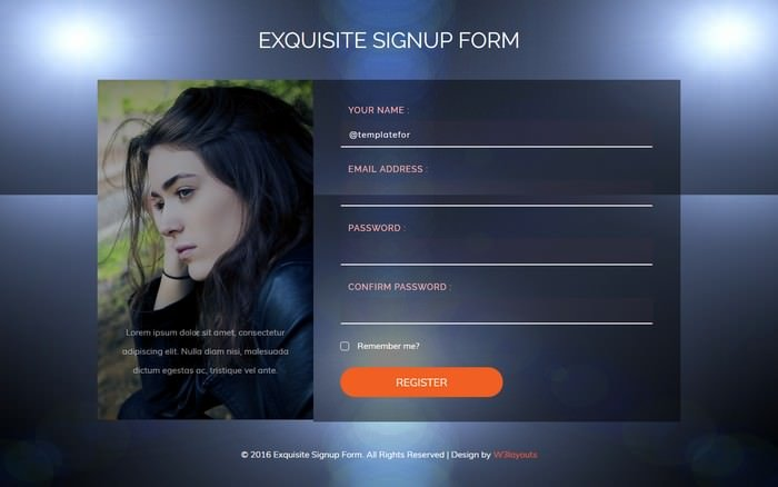 Exquisite Signup Form